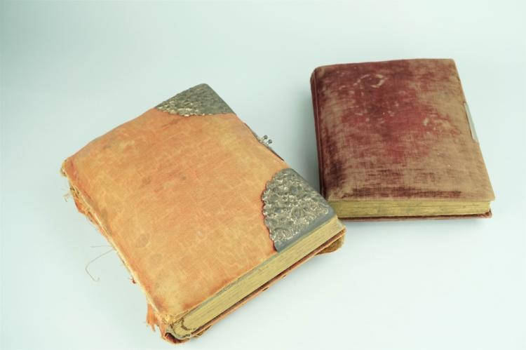 (2) ANTIQUE ALBUMS OF ASSORTED CABINET CARDS