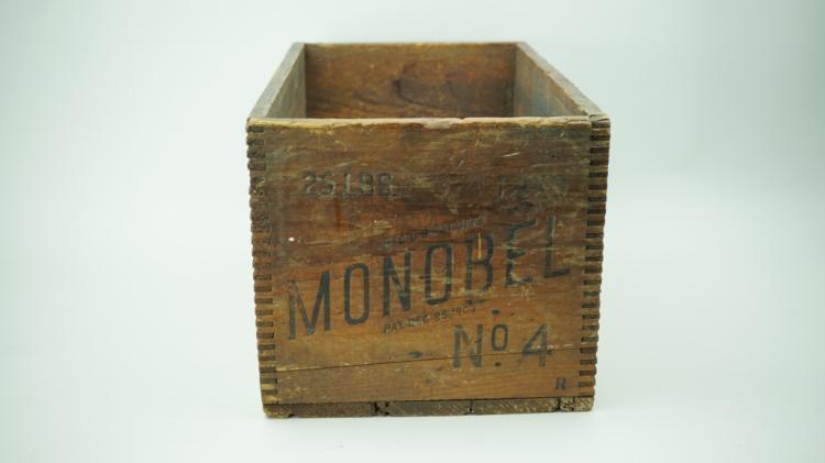 ANTIQUE MONOBEL WOODEN EXPLOSIVES CRATE