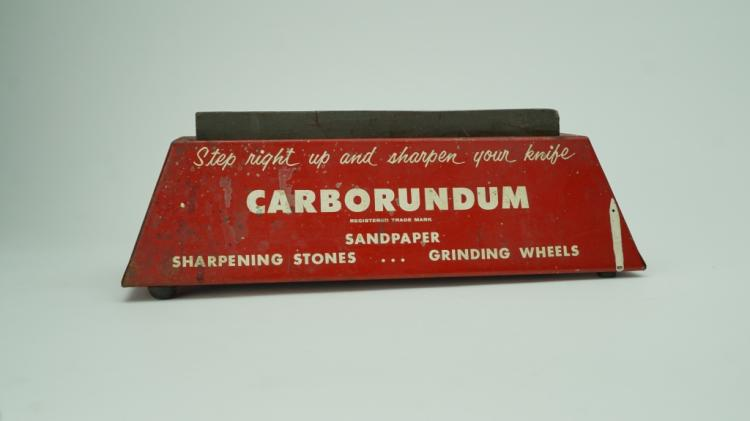 VINTAGE CARCORUNDUM COUNTER DISPLAY