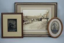 (3) ASSORTED VINTAGE & ANTIQUE FRAMED PHOTOGRAPHS