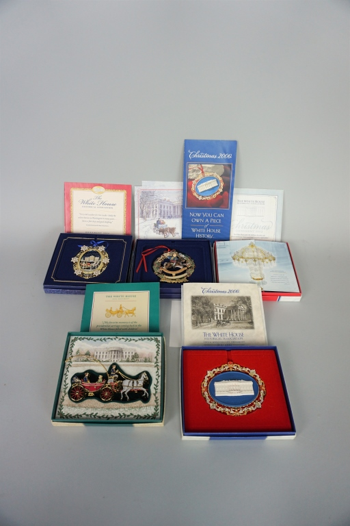 (9) WHITE HOUSE HISTORICAL ASSOCIATION ORNAMENTS