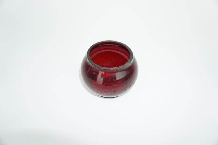 RUBY RED ADLAKE KEROSENE LANTERN GLOBE