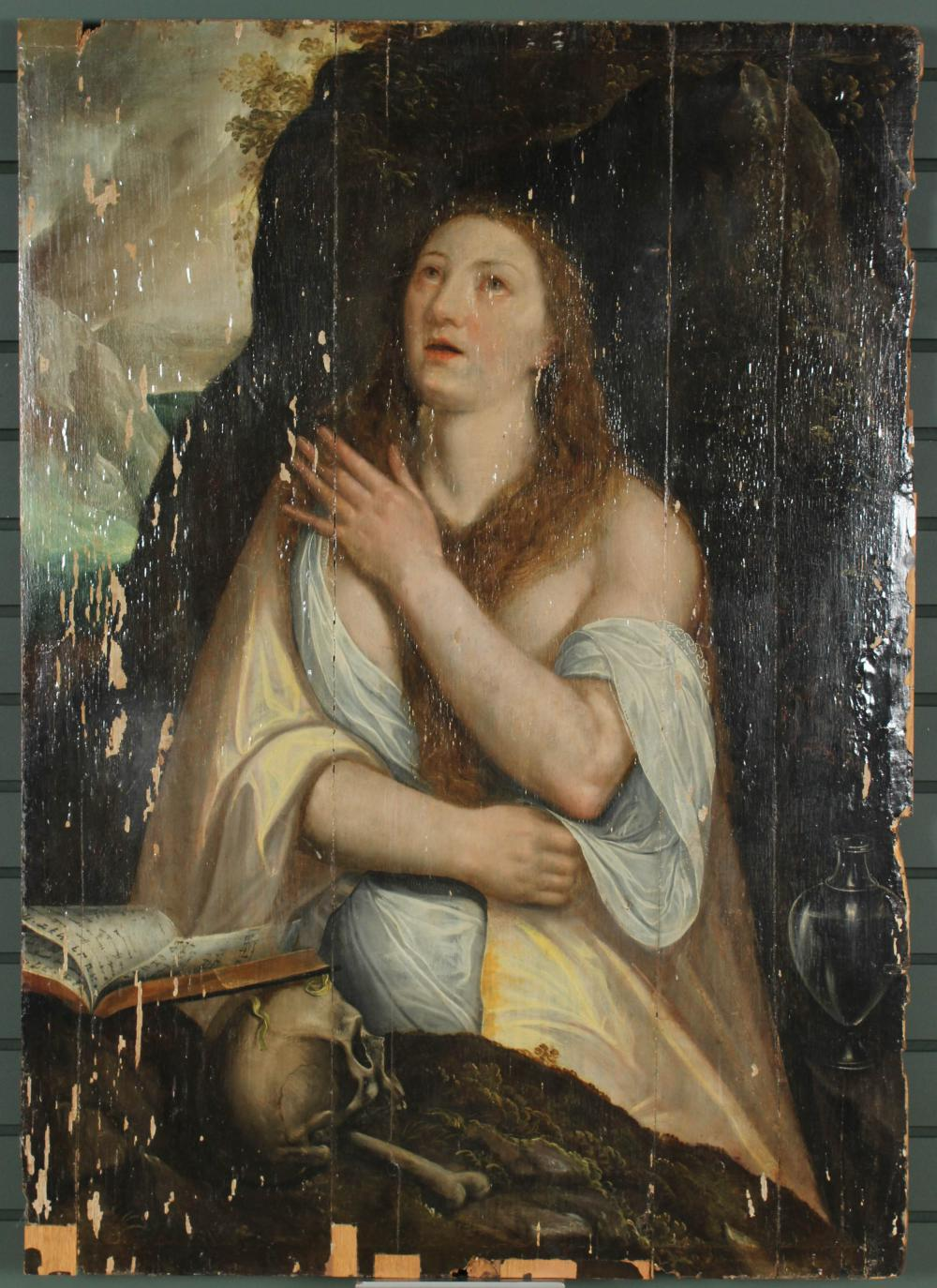 ANTIQUE CONTINENTAL MARY MAGDALENE PORTRAIT