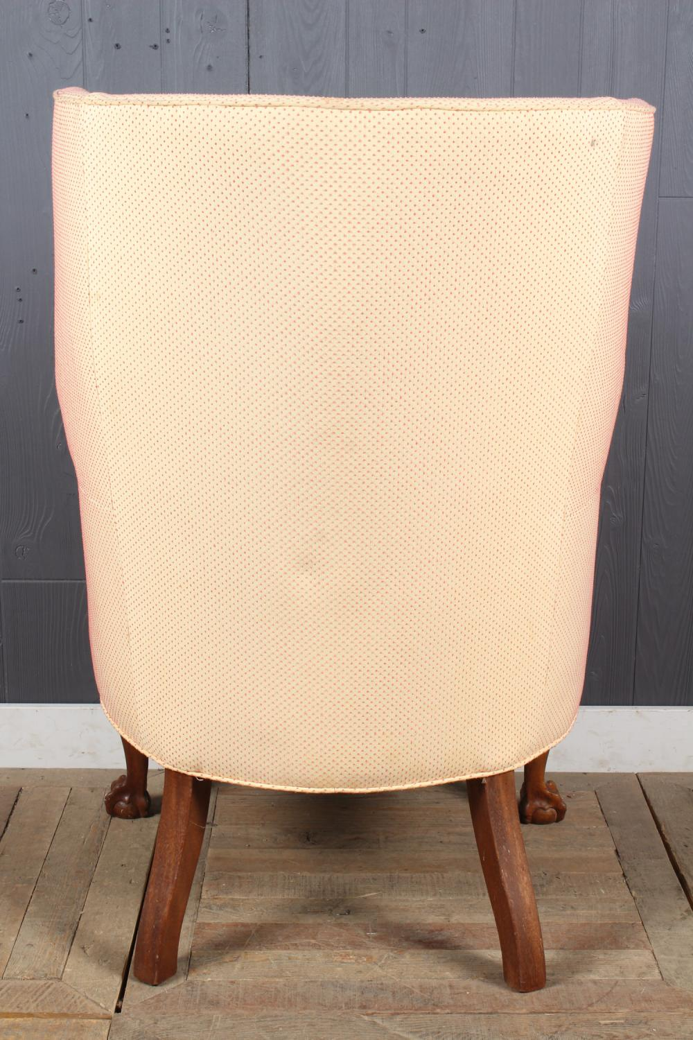 Picture of: Sold Price Antique Chippendale Style Barrel Back Wing Chair February 3 0119 10 00 Am Est