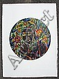 DAVID C. DRISKELL - Color woodcut, David Clyde Driskell, Click for value