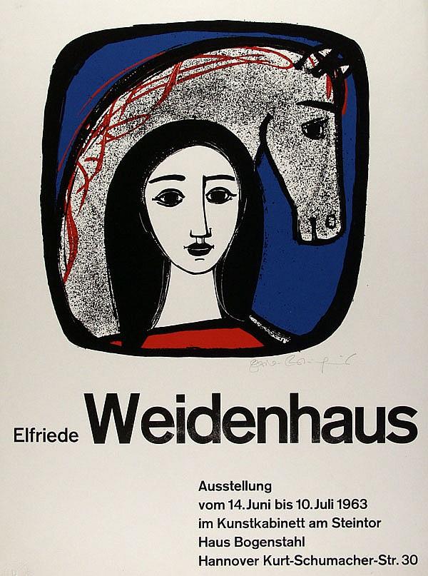 ELFRIEDE WEIDENHAUS - Color silkscreen poster