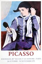 PABLO PICASSO - Picasso (Arlequin au miroir)