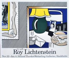 ROY LICHTENSTEIN - Two Paintings: Green Lamp