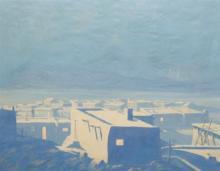 JACK VAN RYDER - Moonrise over the Pueblo