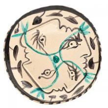 PABLO PICASSO - Ceramic: Quatre profiles enlaces