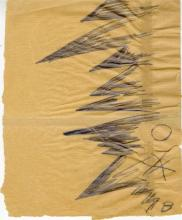 RUDOLF BAUER - Non-Objective Solitary Confinement Prison Drawing [No.8]
