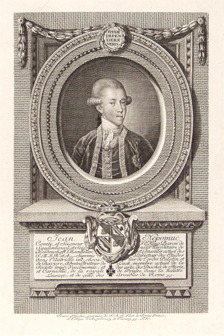 JOHANN BAPTIST KLAUBER - Engraving