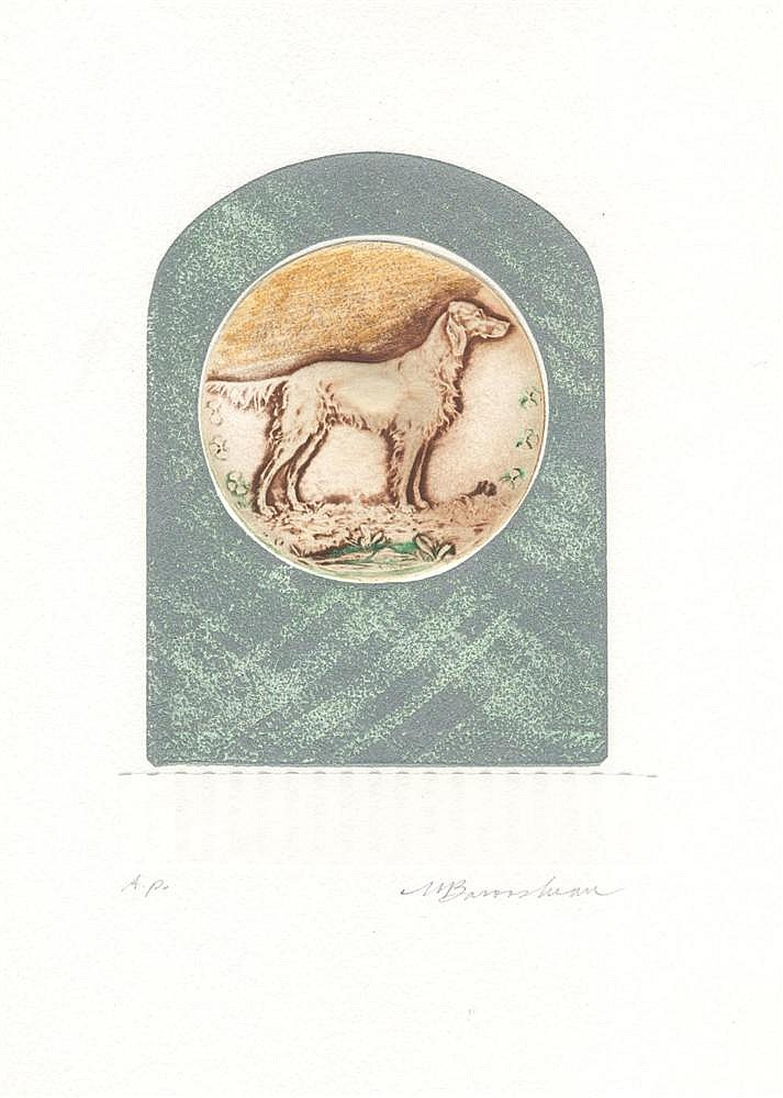 MARTIN BAROOSHIAN - Color intaglio etching with embossing