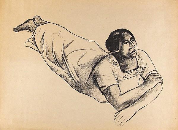 RAUL ANGUIANO - Lithograph