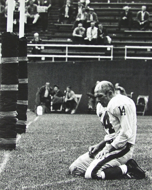 MORRIS BERMAN - Y. A. Tittle Toppled Controlled Copy Stamp