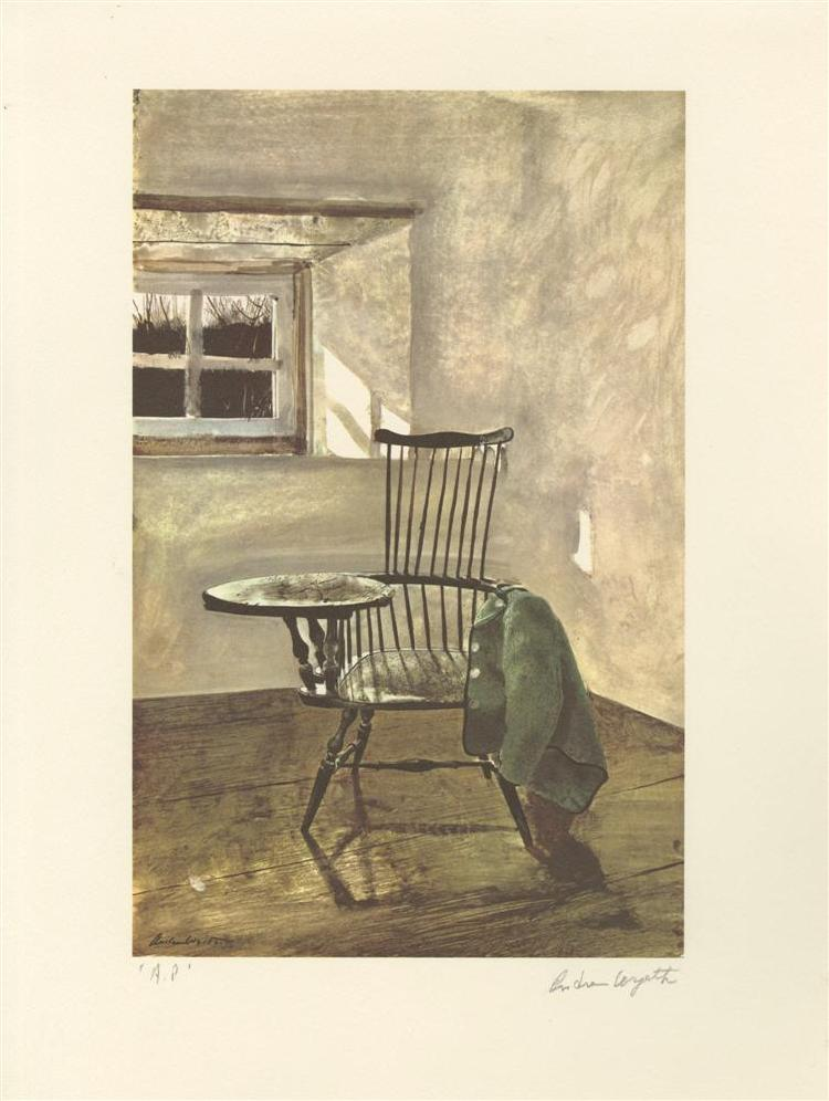 ANDREW WYETH [AFTER] - Color offset lithograph
