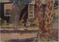 MARIE BRUNER BURT HAINES - Watercolor on paper