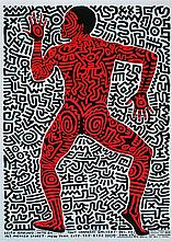 KEITH HARING - Original color lithograph