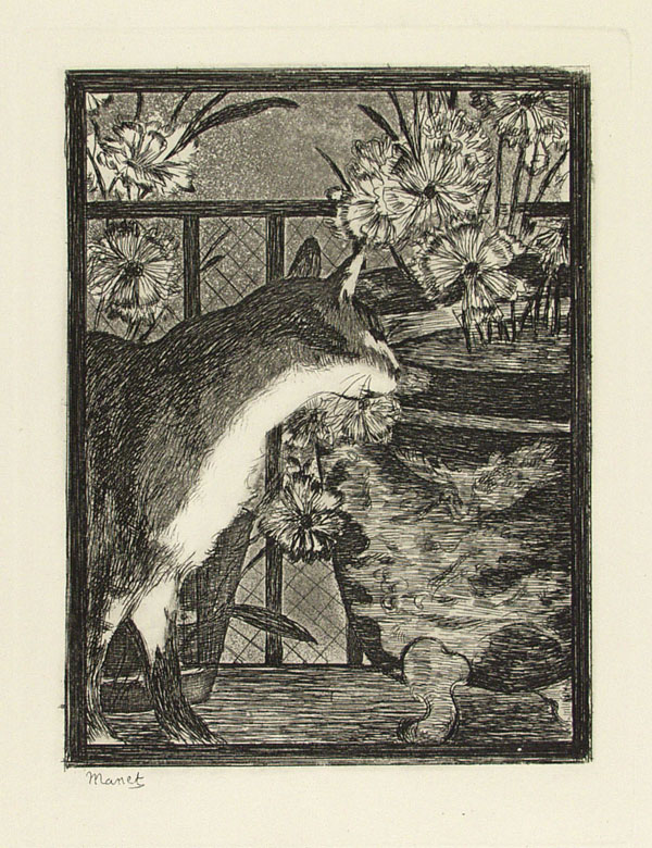 EDOUARD MANET - Etching with aquatint