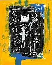 JEAN-MICHEL BASQUIAT - Oil on paper