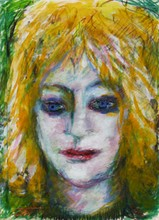 CHARLES I. OKERBLOOM, JR. - Gouache and oil crayon