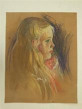 MARIE BRUNER BURT HAINES - Pastel on paper