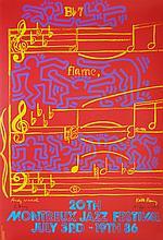 KEITH HARING & ANDY WARHOL - Original color silkscreen