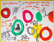 KEITH HARING - Original color offset lithograph poster