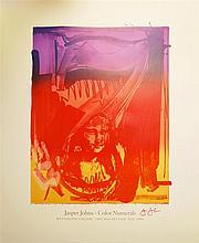 JASPER JOHNS - Original color offset lithograph