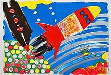 KIKI KOGELNIK [kiki o.k.] - Color lithograph