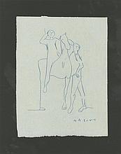 MARINO MARINI - Original color pencil drawing