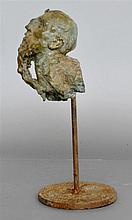 JAVIER MARIN [BY OR AFTER] - Bronze sculpture with light verdigris-type patina