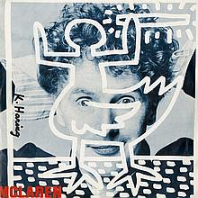 KEITH HARING - Original color offset lithograph with vinyl record