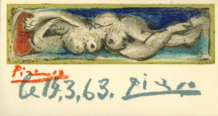 pablo picasso femme nue couchee