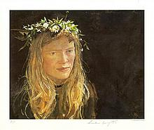 ANDREW WYETH [d'apres] - Crown of Flowers