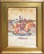 Annie Gooding Sykes (1855- 1931) - Seaside Village