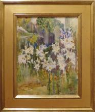 Annie Gooding Sykes (1855- 1931) - Lilies in Bloom