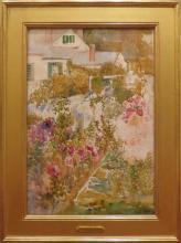 Annie Gooding Sykes (1855- 1931) - Backyard Flower Garden
