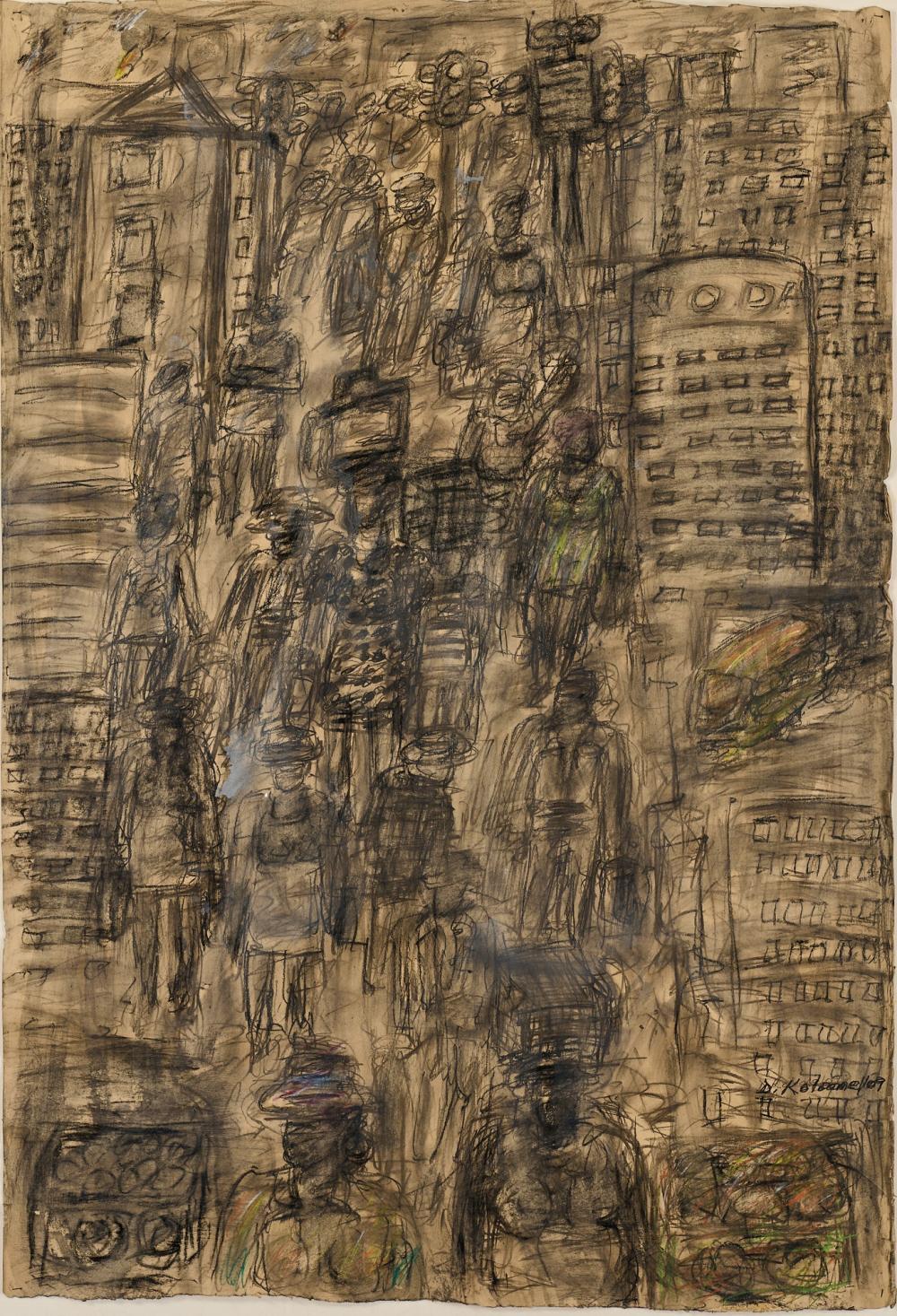 DAVID KOLOANE (SOUTH AFRICA 1938-2019) JOHANNESBURG CITYSCAPE