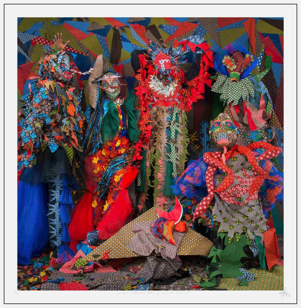 Siwa Mgoboza (South Africa 1993-) 'Les Êtres D'Africadia (After Les Demoiselle D'Avignon)', 2015