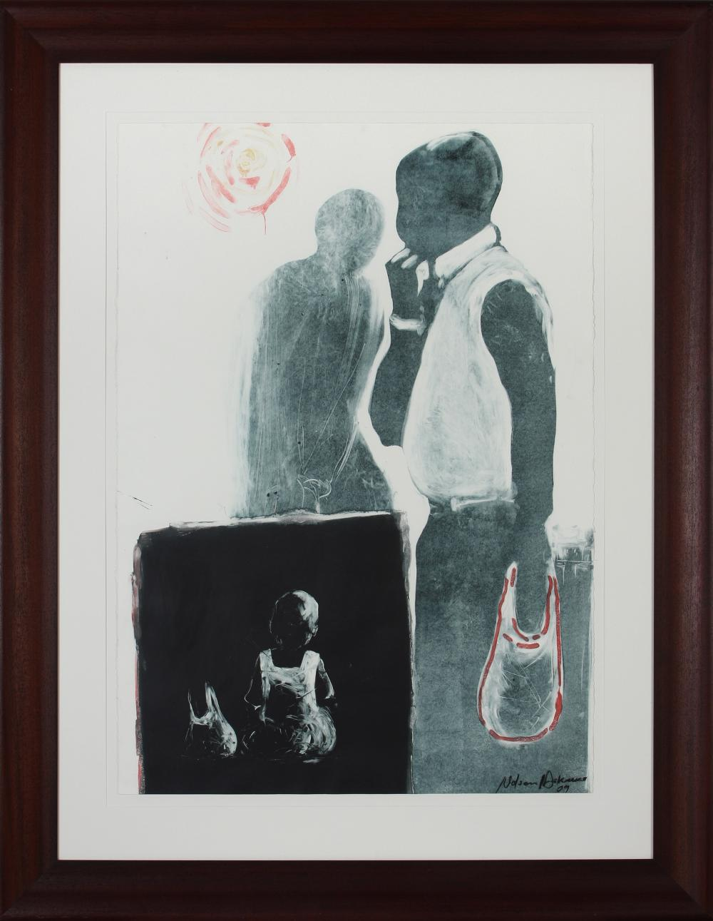 Nelson Makamo (South Africa 1982-) Two figures, 2009