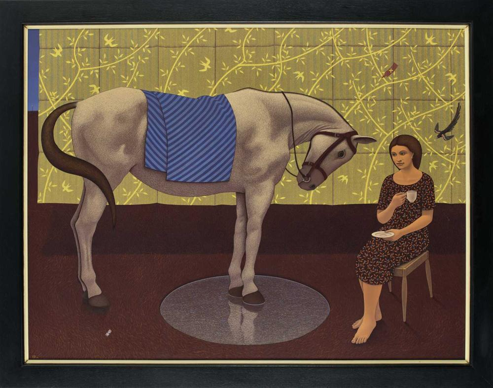 Kevin Roberts, Lady with Horse and Widow