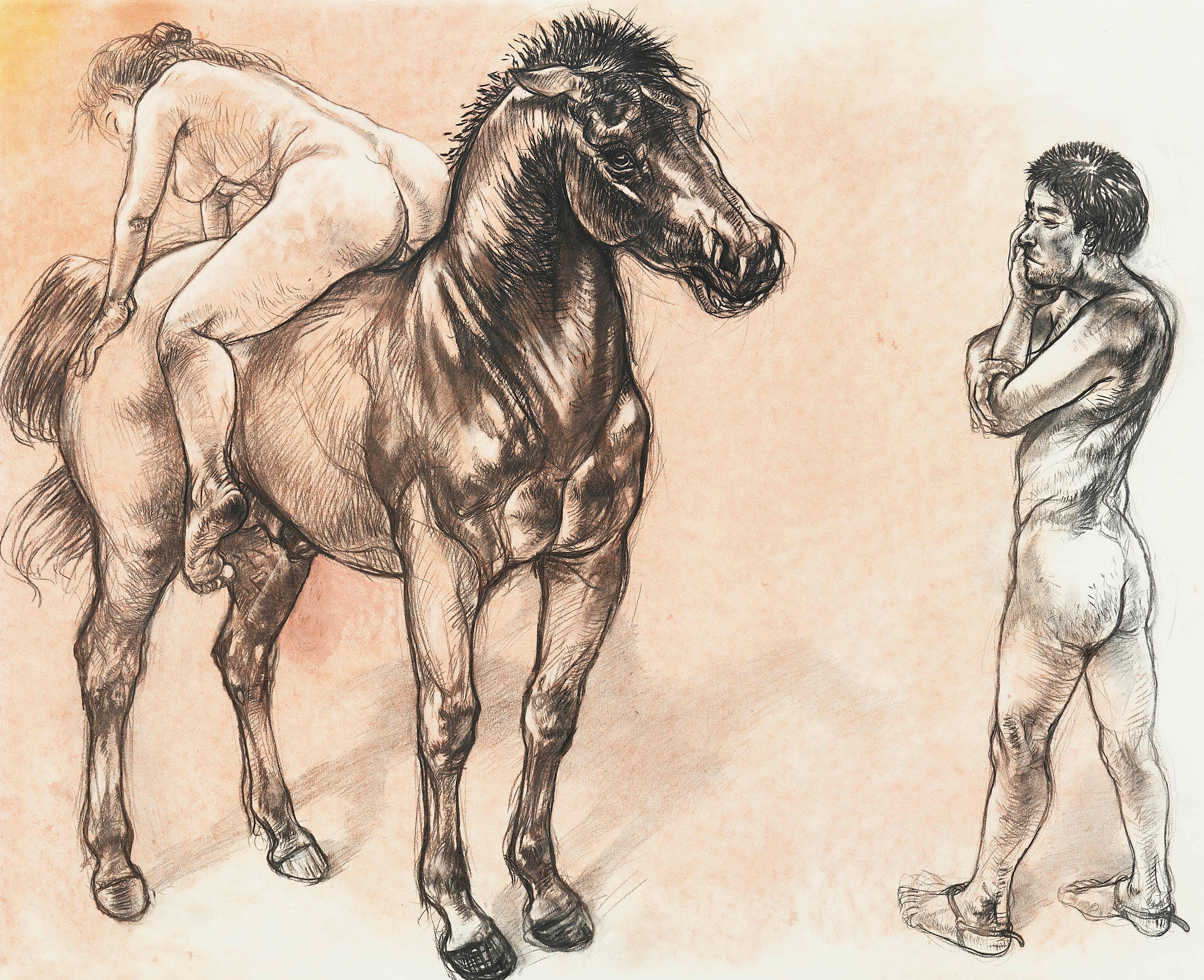 Diane Victor, Two figures and a horse