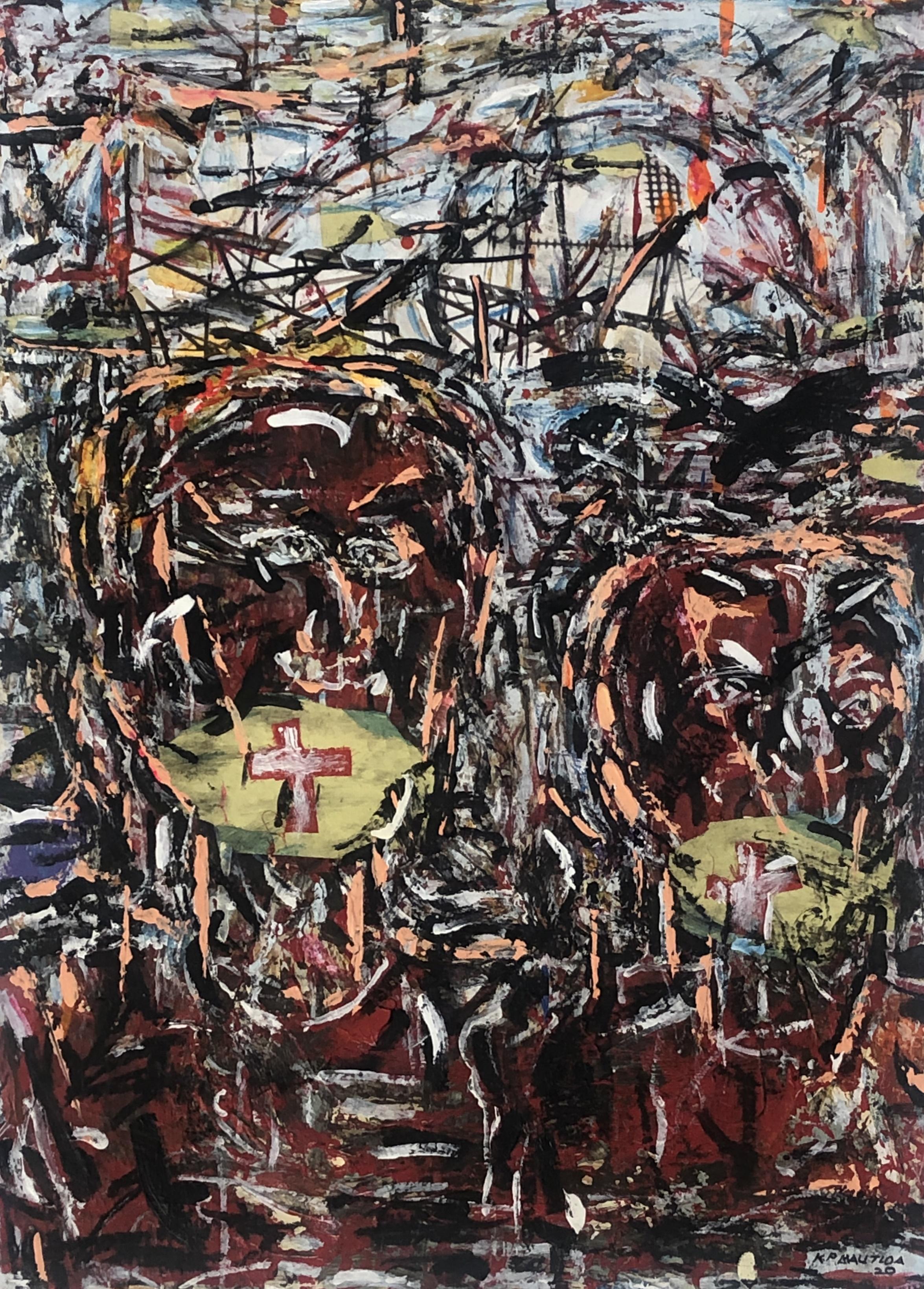 Pat Mautloa (South Africa 1952-) Lockdown, 2020