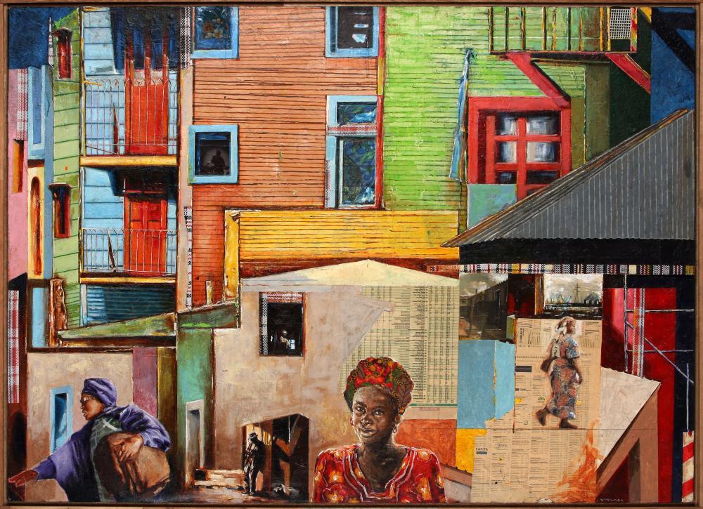 Pat Mautloa (South Africa 1952-) City Scape, 2018