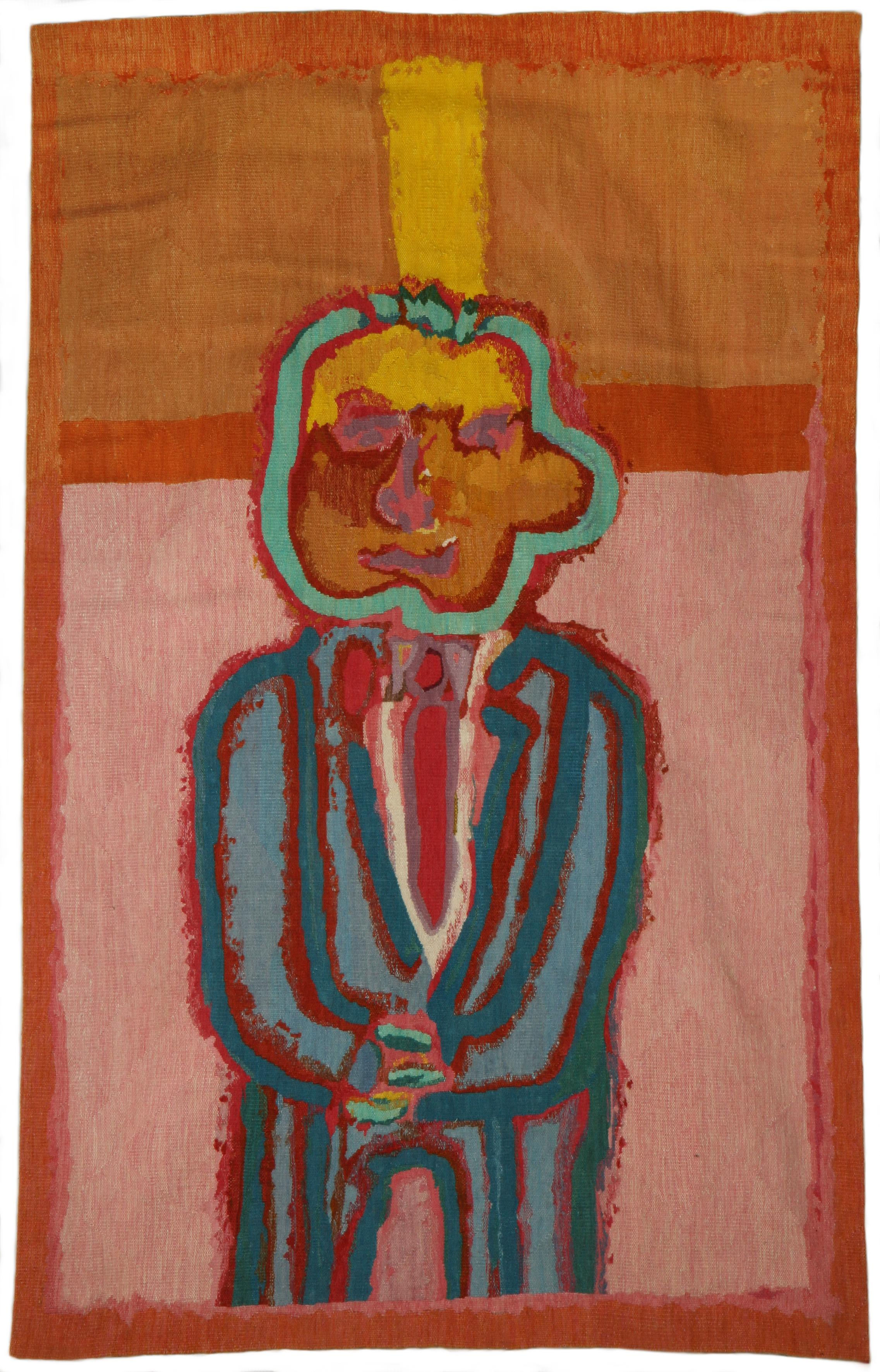Robert Hodgins (South Africa 1920-2010) and The Margaurite Stephens Tapestry Studio (South Africa) Blue Suit Guy, 2018/19