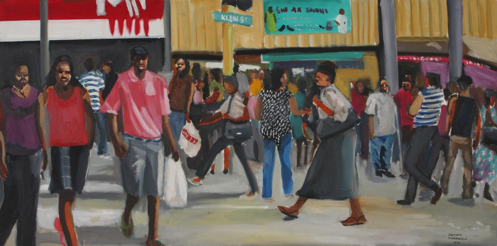 Dominic Tshabangu (South Africa 1965-) Bree Street, 2012