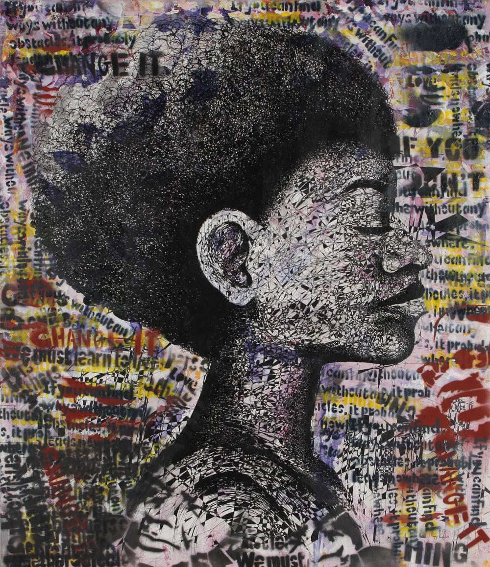 Mongezi Ncombo (South Africa 1987-) Afro Centric, 2020