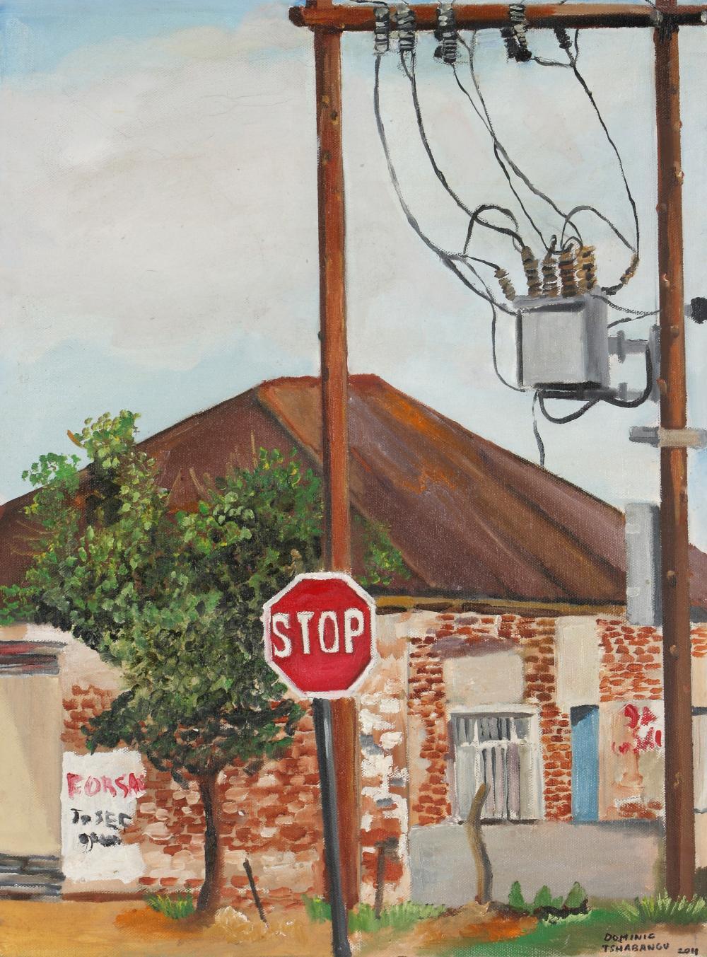 Dominic Tshabangu (South Africa 1965-) Stop Sign, 2011