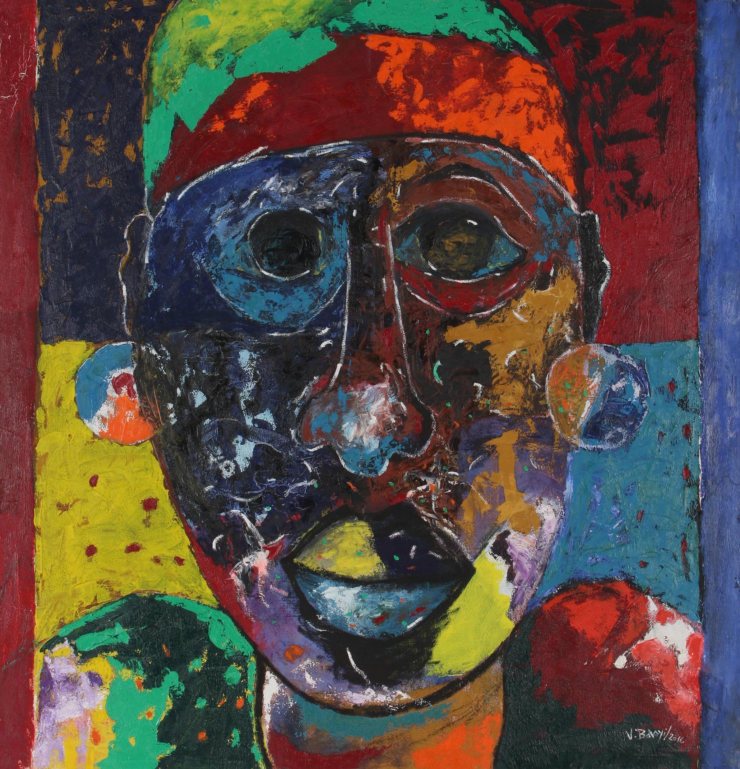 Vincent Baloyi (South Africa 1954-) Mahlo Makhulu (Big Eyes), 2016